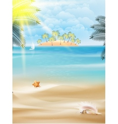 Beautiful seaside view on sunny day with sand vector image