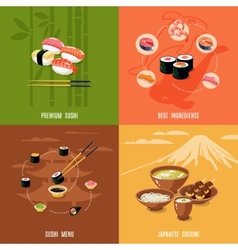 Asian food design concept vector