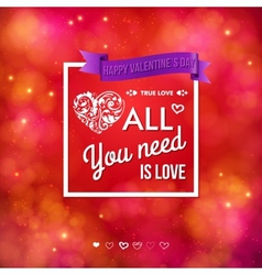 Colorful valentines day card design vector