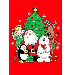 Christmas friends vector image