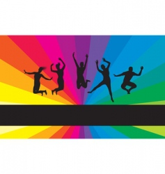 Jumping background vector