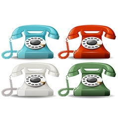 Retro telephones vector