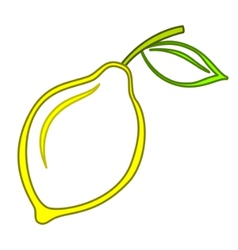 Fruit lemon vector