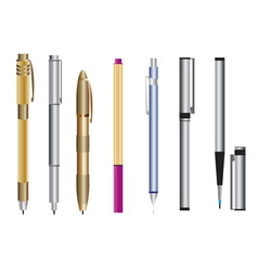 Pen set vector