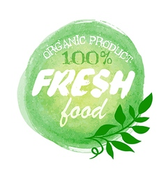 Fresh food organic label vector