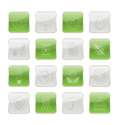 Ecology and nature icons vector