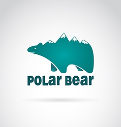 Image of bear with mountains vector