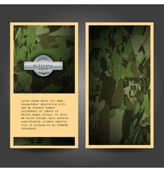 Military stationery template design with vector