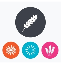 Agricultural icons gluten free symbols vector