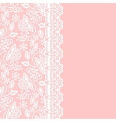 card with lace vector image