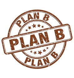Plan b stamp vector