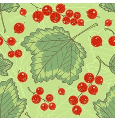 Red currants seamless pattern vector image
