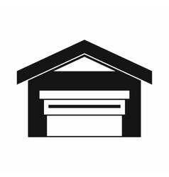 Garage with roof icon simple style vector