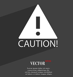 Attention caution icon symbol flat modern web vector