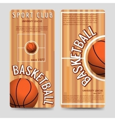 Basketball sport club flyers template vector
