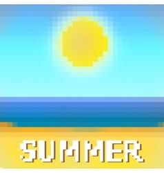 Beach sea and sun vector