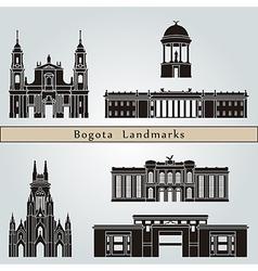Bogota landmarks and monuments vector