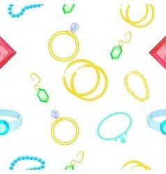 Costume jewellery pattern cartoon style vector