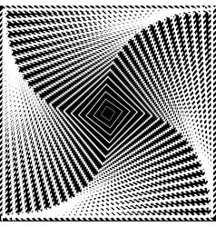 Design monochrome twirl movement square background vector