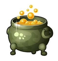 Detailed icon of magician potion vector