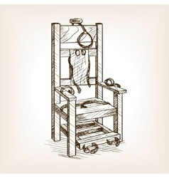 Electric chair sketch style vector