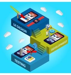 Flat 3d isometric UI design vector image vector image