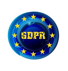 General data protection regulation gdpr vector
