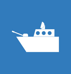 Icon military warship vector