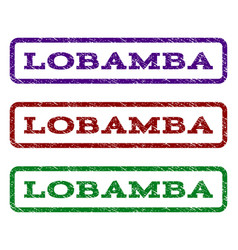 lobamba watermark stamp vector image vector image