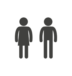 Man and woman pictogram vector image vector image