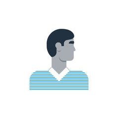 Man side view turned head casual outfit vector