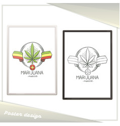 Medical marijuana poster nine vector