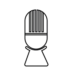 Microphone music sound dj icon graphic vector