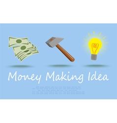 Money making idea vector