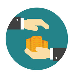 Money protection flat icon vector