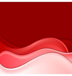 Red elegant waves backdrop vector image