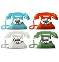 Retro telephones vector image
