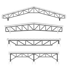Roofing buildingsteel frame cover roof truss vector