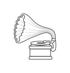 Saxophone icon retro technology design vector