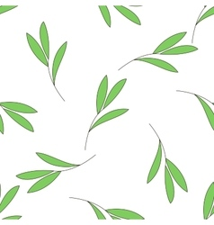 Seamless background with green branch of a plant vector image vector image