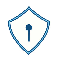 security web padlock vector image