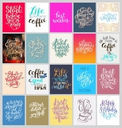 set of calligraphy posters with hand lettering vector image