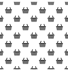 Shopping cart pattern simple style vector