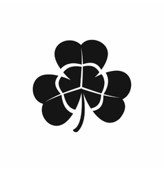 Three leaf clover icon black simple style vector image vector image