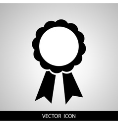 award badge with ribbon vector image