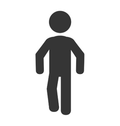 Man body silhouette pictogram vector