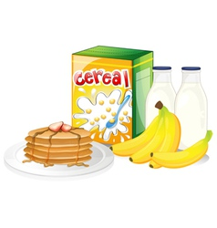 Full breakfast meal vector