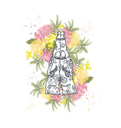 Element yoga mudra hands namaste vector