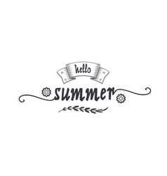Summer - handmade template isolated object vector