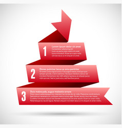 Infographic with red spiral pyramid ribbons vector image